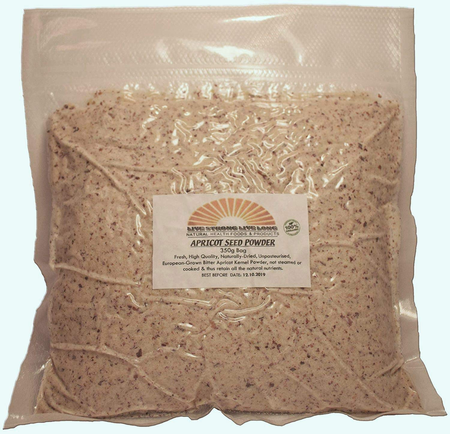 100% Natural Apricot Kernel Seed Powder 350g Bag (12.3oz)