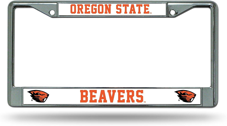 NCAA Rico Industries Standard Chrome License Plate Frame, Oregon State Beavers