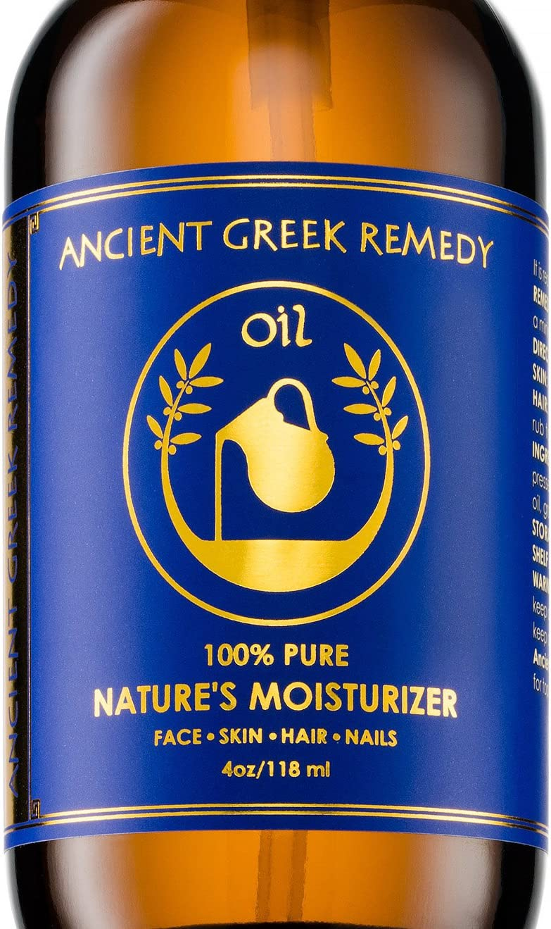 100% Organic Blend of Olive, Lavender, Almond & Grapeseed oil with Vitamin E, Daily Moisturizer for Skin, Hair, Face, Scalp, Cuticle, Nails & Foot. Pure, Cold Pressed, Body oil for Men and Women