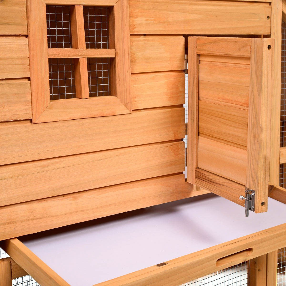 Tangkula Deluxe Wooden Chicken Coop 55'' Hen House Rabbit Wood Hutch Poultry Cage Habitat by Tangkula (Image #4)