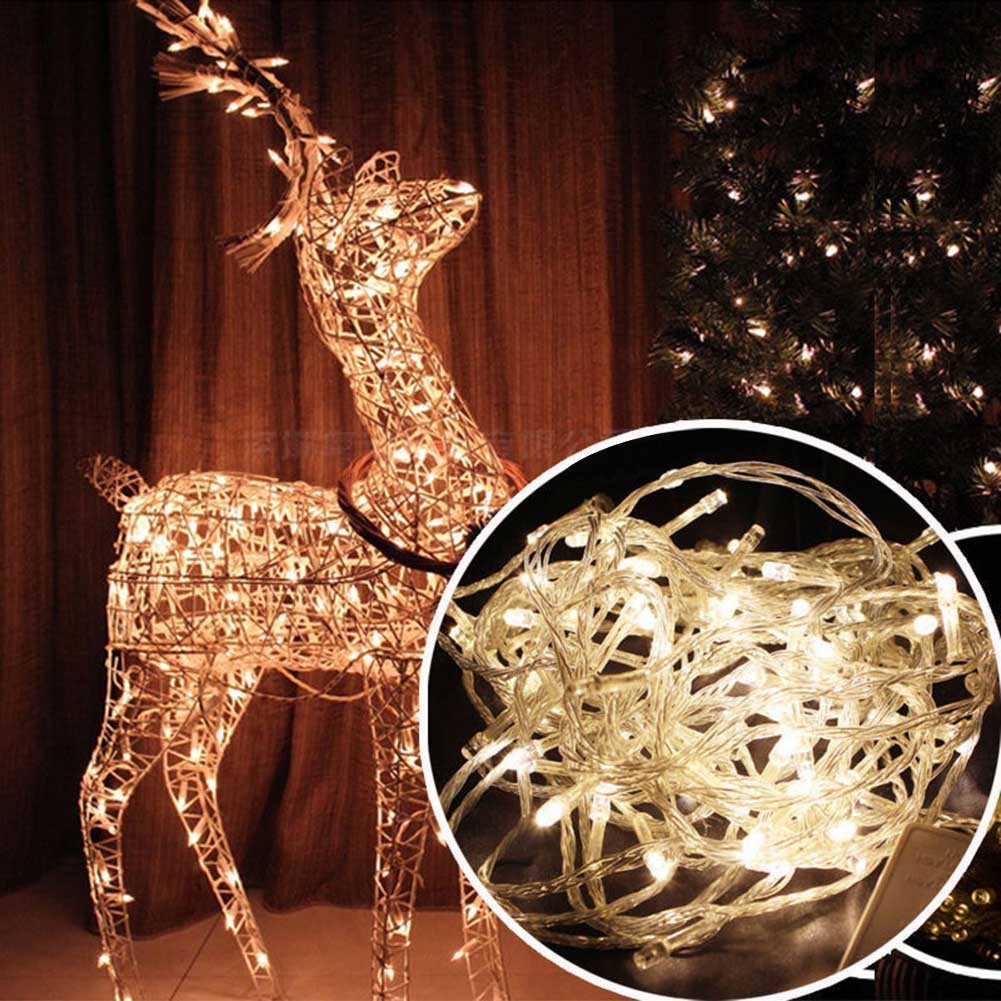 Lily's Gift LED String Lights with 66ft 200LED 8 Modes Irregular Firefly Starry String Light for Patio, Garden, Yard, Square, Chritmas, Wedding Decor (Warm Light) by Lily's Gift (Image #2)