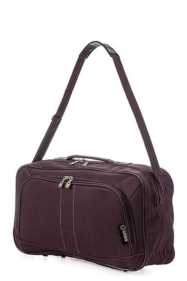 4c7447cbb 5 Cities Underseat Hand Cabin Luggage Flight Bag (Plum): Amazon.co ...