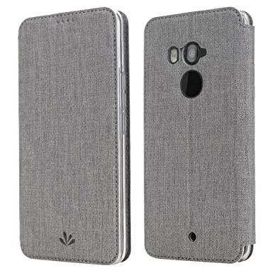 new product 34998 8e2cc HTC U11 Case, HTC U11 Cover, Simicoo Flip PU Leather Cover Slim Shockproof  Case With Clear TPU Card Slot Wallet Case for HTC U11 (HTC U11, Grey)