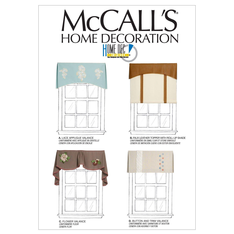 McCall\'s patrones M6581 tratamientos de ventana, talla única: Amazon ...
