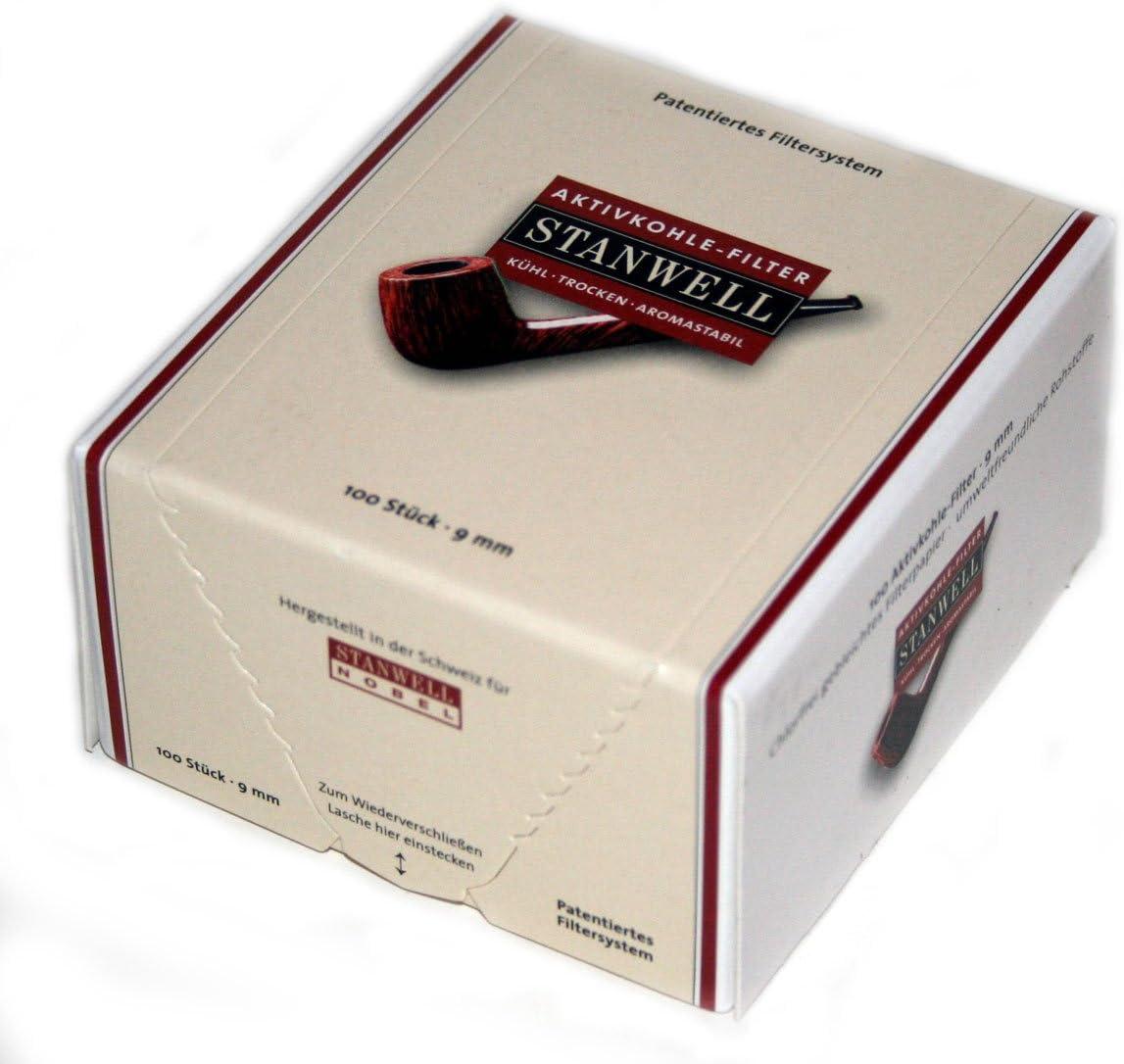 Stanwell 18425 - Filtros de carbón activo (9 mm, 100 unidades), color marrón