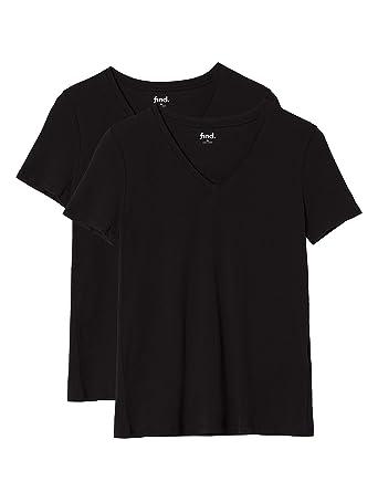 2aff0f80883 FIND Women s Longline V Neck T-Shirt  Amazon.co.uk  Clothing
