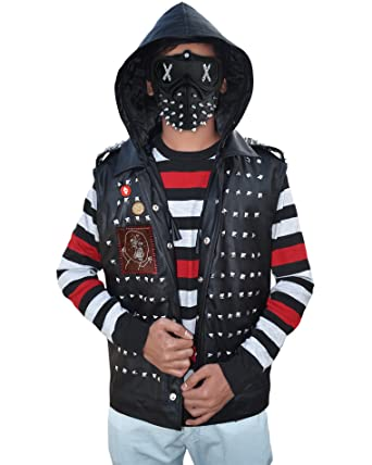 The American Fashion Watch Dogs 2 Wrench Dedsec Leather Vest ▻Best Seller◅ (XX
