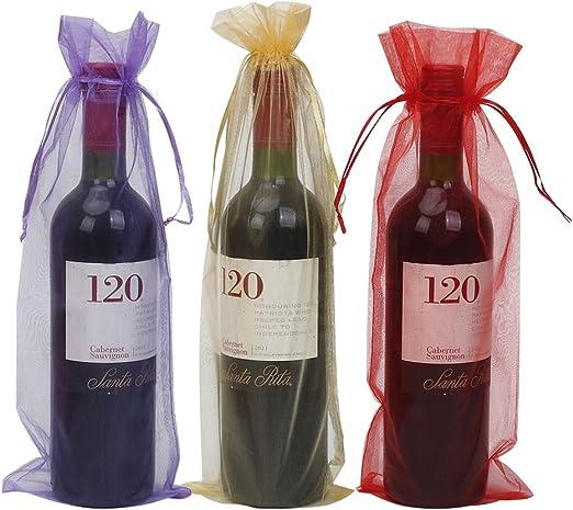 Amazon.com: HRX paquete 30 unidades botella de vino bolsas ...