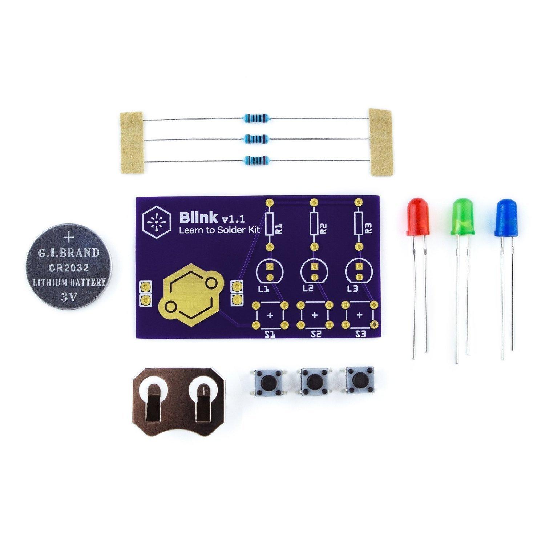 Learn To Solder Kit Blink Toys Games Simple Blinking Led Circuit