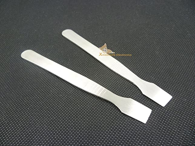 metal spudger. 2pcs metal flat spudger pry open opening tool for ipod video classic nano touch iphone ipad