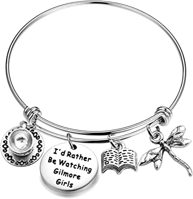Book The Love between Mother /& Daughter is Forever Mug Silver Cup Coffe Gift Gilmore Bangle you are my Rory Bracelet Jewelry