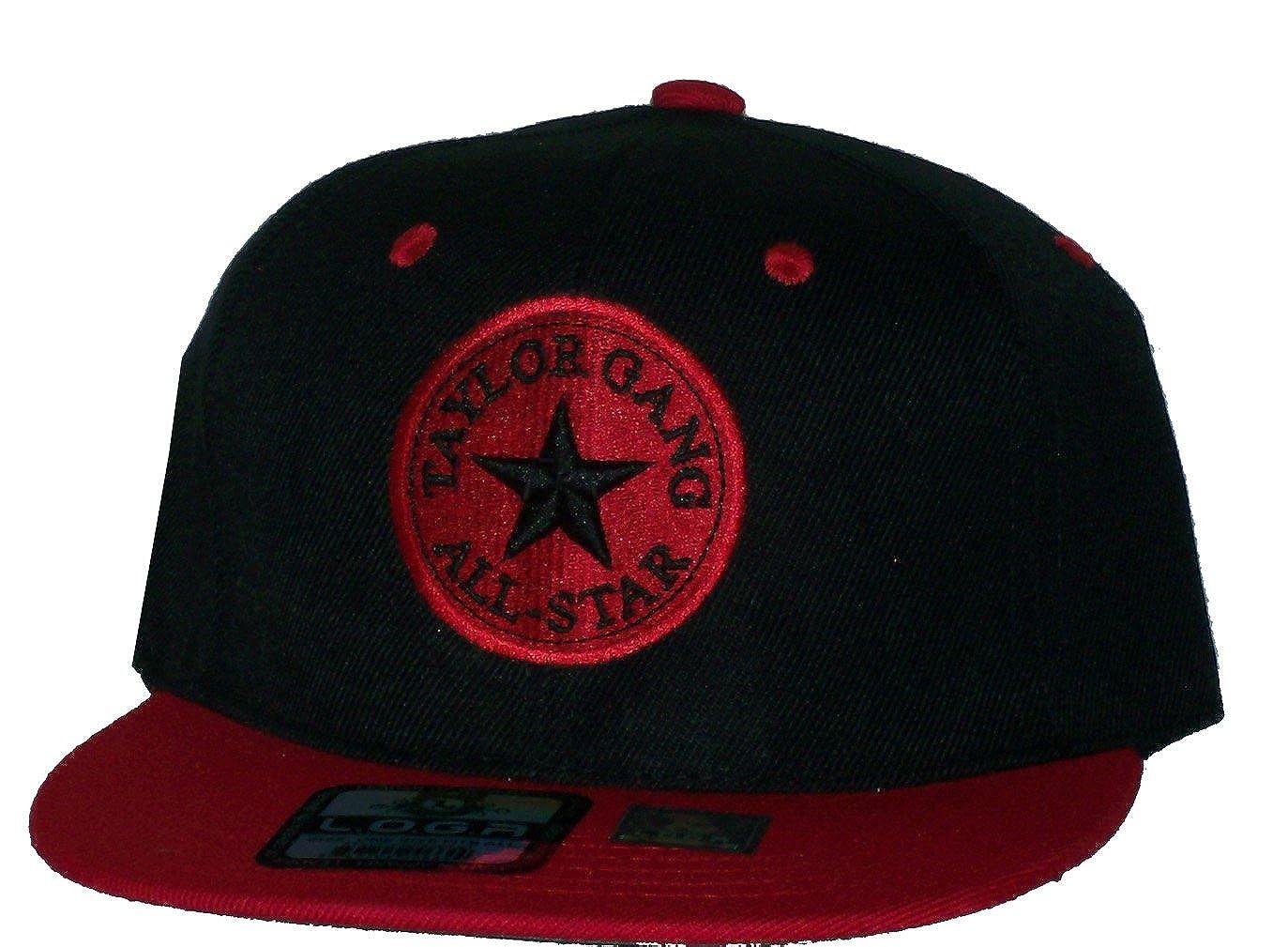 Amazon.com  Rob sTees Taylor Gang All Star Black Red Wiz Khalifa Snapback Hat  Cap  Clothing 85238c85b25