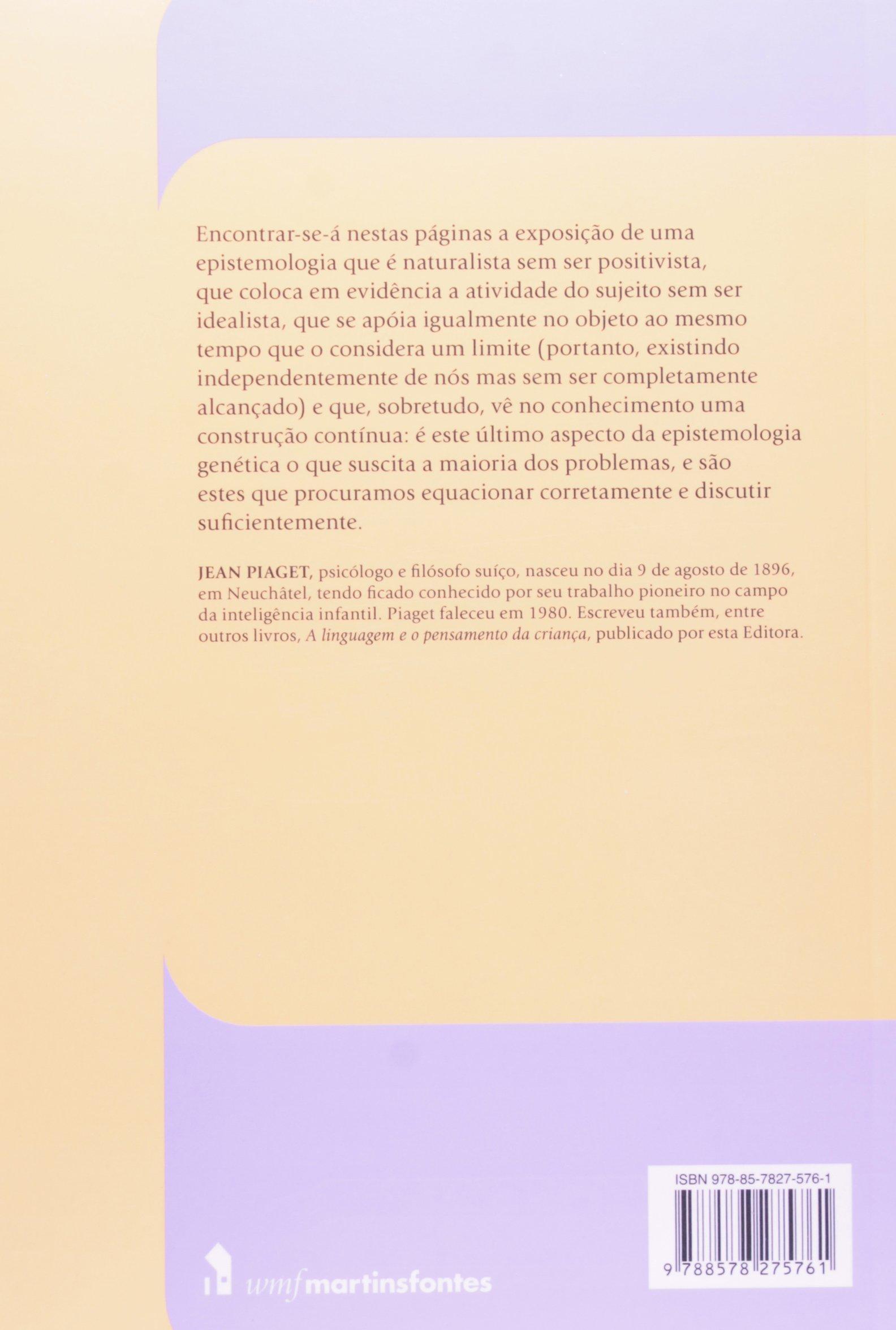 dd6fb64f349 Epistemologia genética - 9788578275761 - Livros na Amazon Brasil