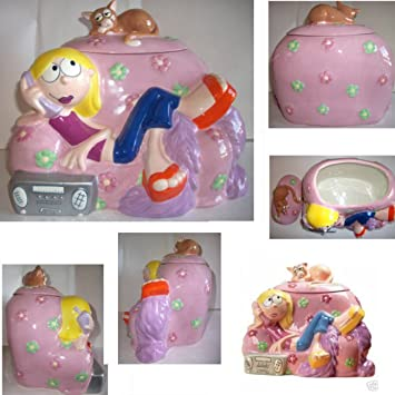 Disney Cookie Jars Amazon Com >> Amazon Com Disney Lizzie Mcquire Cookie Jar Trinket Jar Earthenware