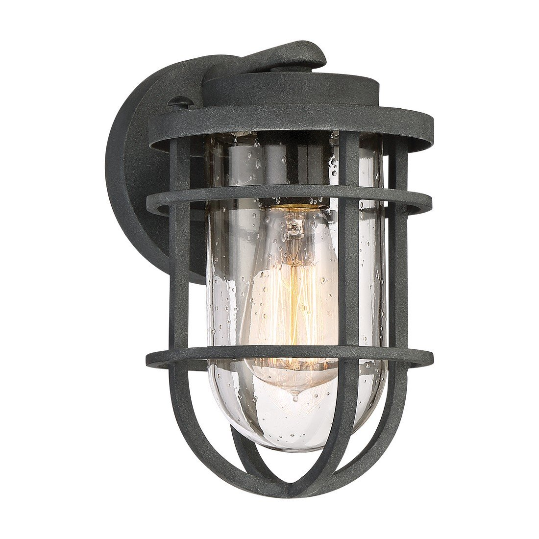 Quoizel One Light Outdoor Wall Lantern BRD8406MB, Small, Mottled Black
