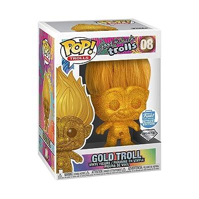 Funko Pop! Trolls: Good Luck Trolls - Diamond Collection Gold Troll Limited Edition Version Vinyl Figurine #8: Toys & Games [5Bkhe1103336]