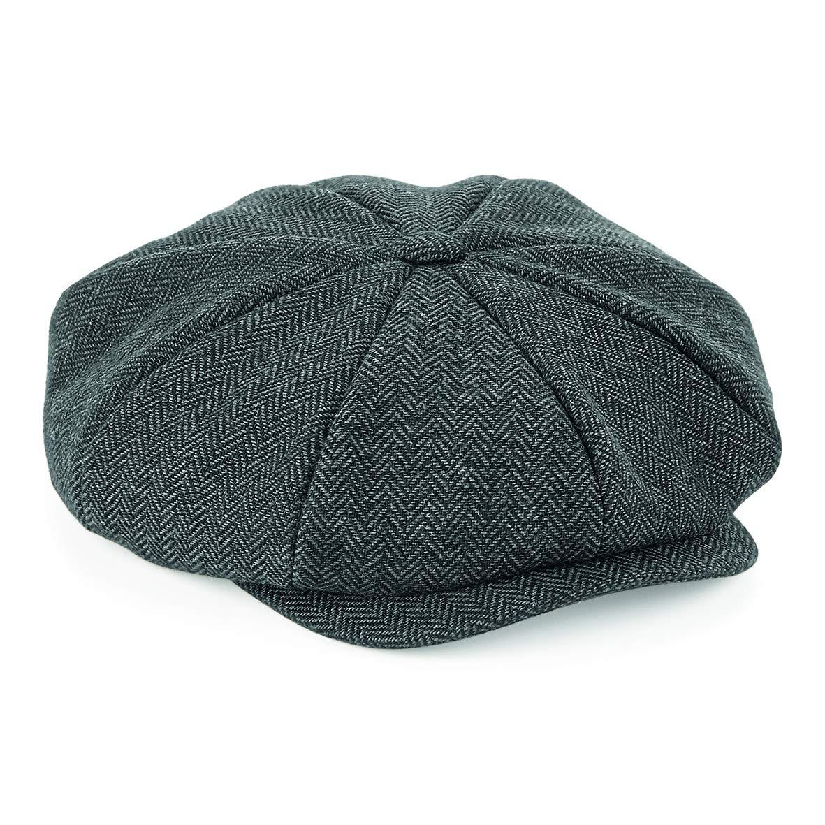 ASVP Shop 'Shelby' Newsboy Herringbone Cloth Cap Blinder Peaky Hat