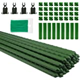 """Orgrimmar 26 PCS 48"""" Garden Support Stakes Plastic Coated Deformable Climbing Plant Trellis Plant Climbing Frame for Tomato C"""
