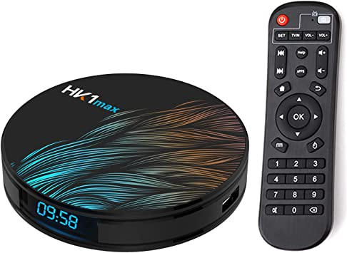 Xilibod HK1 MAX Android TV Box 9.0 4GB RAM 32GB ROM RK3318 5.8G/2.4G WiFi with Bluetooth 3D 4K 1080P Smart TV Box: Amazon.es: Electrónica