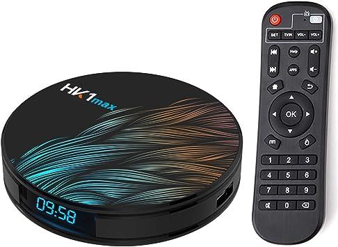 Xilibod HK1 MAX Android TV Box 9.0 4GB RAM 32GB ROM RK3318 5.8G/2.4G WiFi with Bluetooth 3D 4K 1080P Smart TV Box: Amazon.es: Electrónica