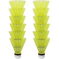 TX 12 stuks badminton nylon shuttlecocks indoor outdoor sport hoge snelheid training badminton (geel)