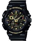Casio 卡西欧G-Shock 树脂表带 男士模拟显示/数字手表 GA-100CF-1A9ER