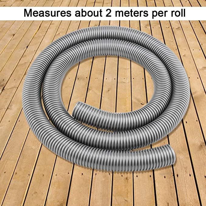Universal 2m Flexible Vacuum Cleaner Hose Tube with Adapter Replacement