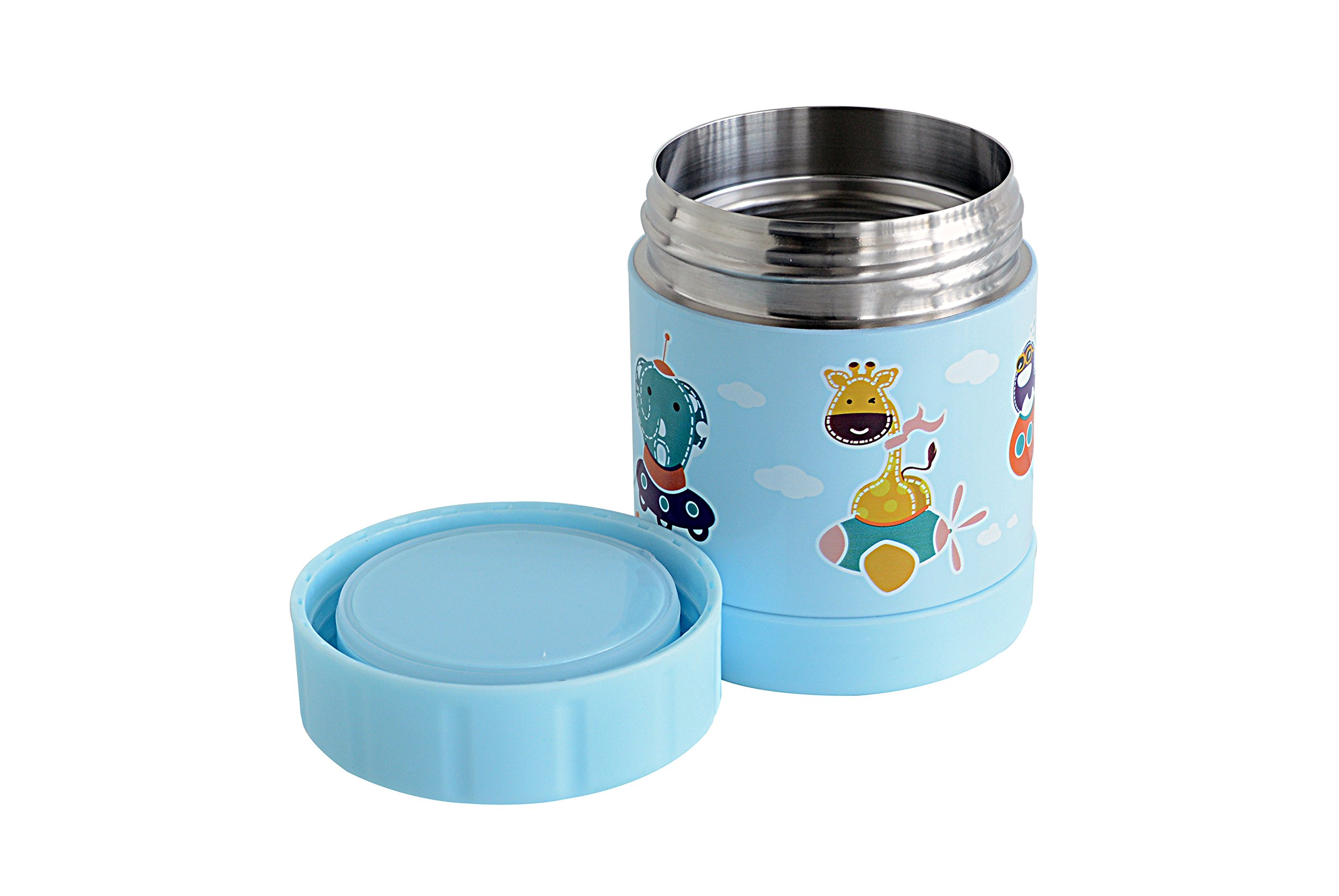 Marcus & Marcus Animal Themed Kids Stainless Steel Thermal Container - Blue