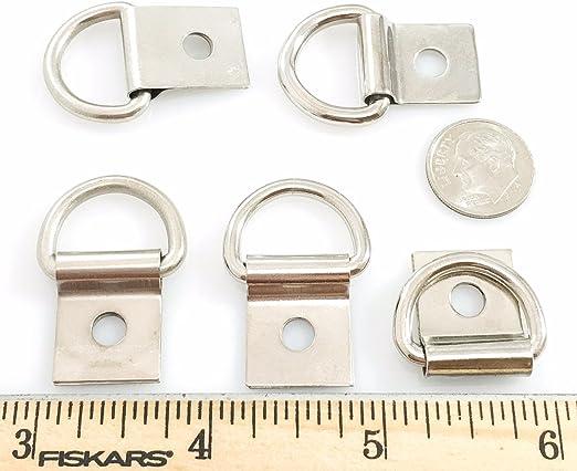 STEEL DEE RINGS w Clip Nickel Silver Finish 58 inch 30 pcs