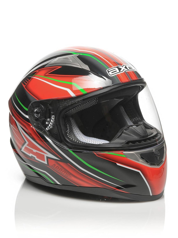 AXO Casco de Moto Arrow Negro/Rojo XL (61-62 cm) MS1P0031-ITA MS1P0031_ITA-XL