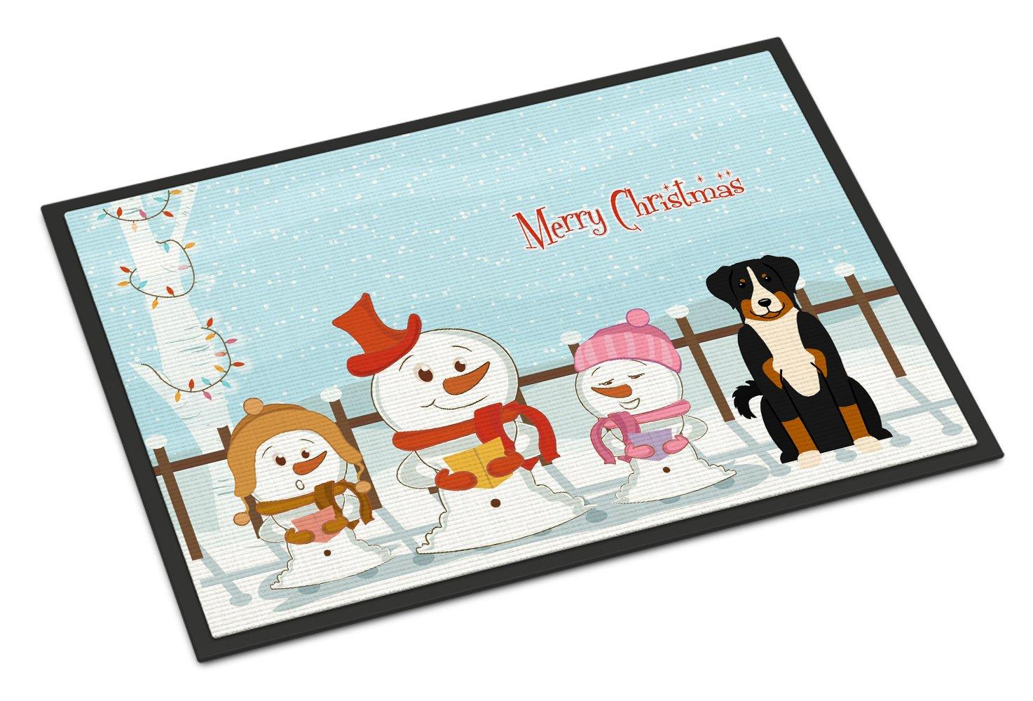 Carolines Treasures Merry Christmas Carolers Appenzeller Sennenhund Indoor or Outdoor Mat 24x36 BB2374JMAT 24 x 36 Multicolor