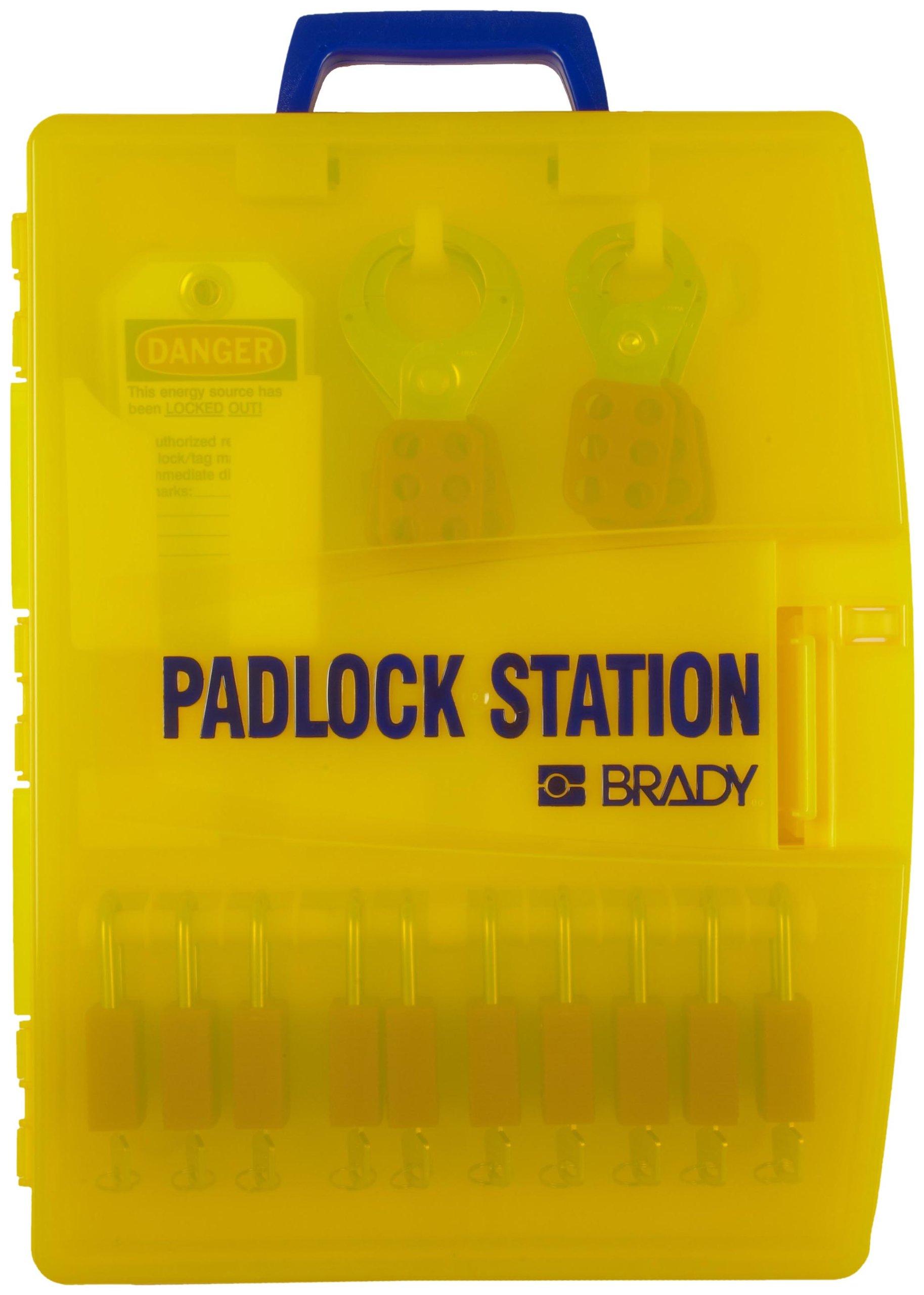 Brady Ready Access Padlock Station, Includes 10 Safety Padlocks by Brady