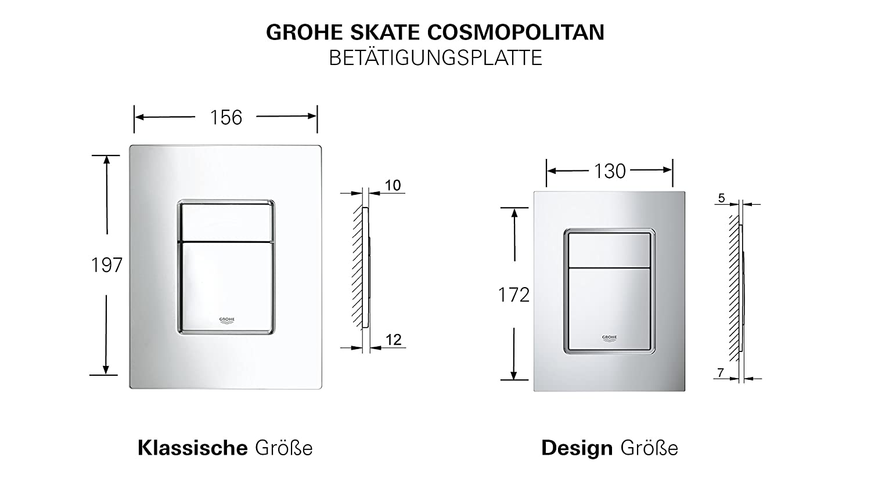 Grohe Skate Cosmopolitan 38732SH0 Escudo dual Ref