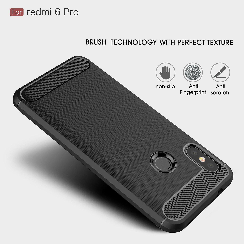 Amazon.com: Xiaomi Redmi 6 Pro Case/Xiaomi Mi A2 Lite Caso ...