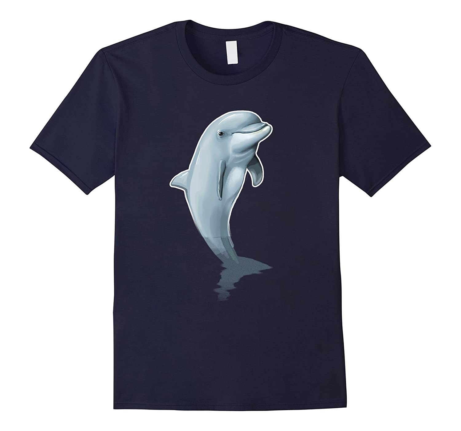 Love Heart Dolphins T-Shirt Cute Dolpin Lover Ocean Animal-ANZ
