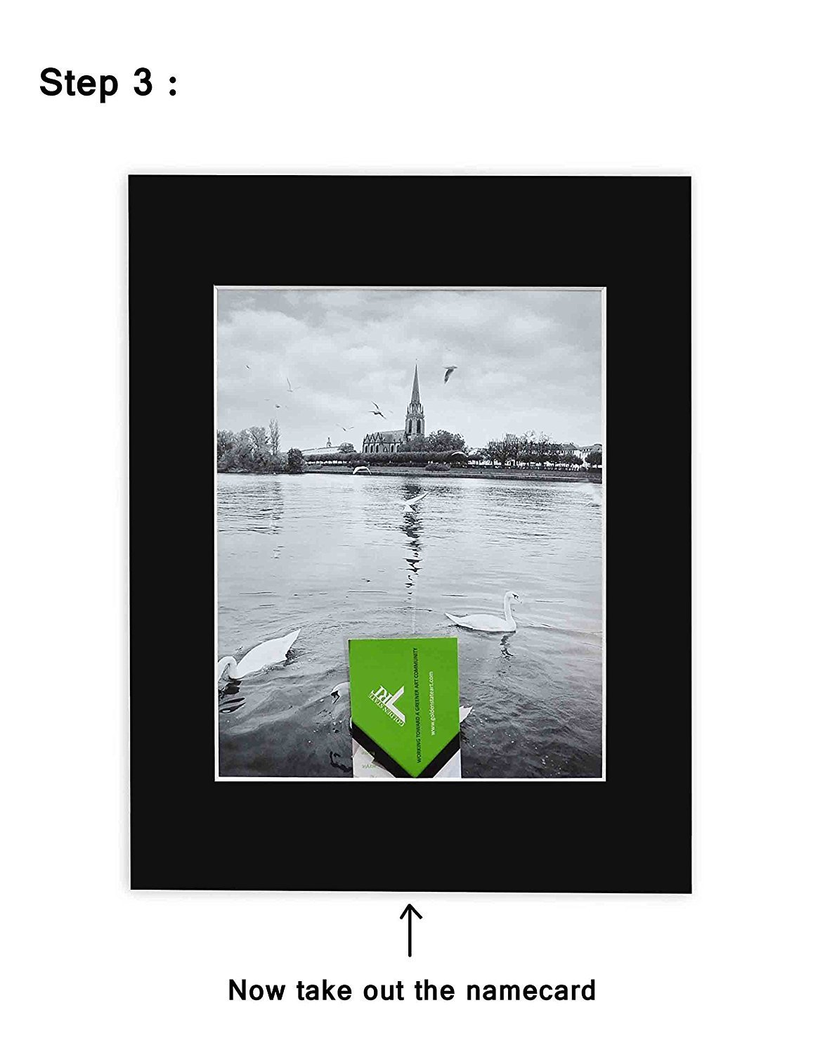 Golden State Art Pack of 10 Black 11x14 Slip-in Pre-adhesive Photo Mat for 8x10 picture with backing board pre-assembled Includes 10 clear bags