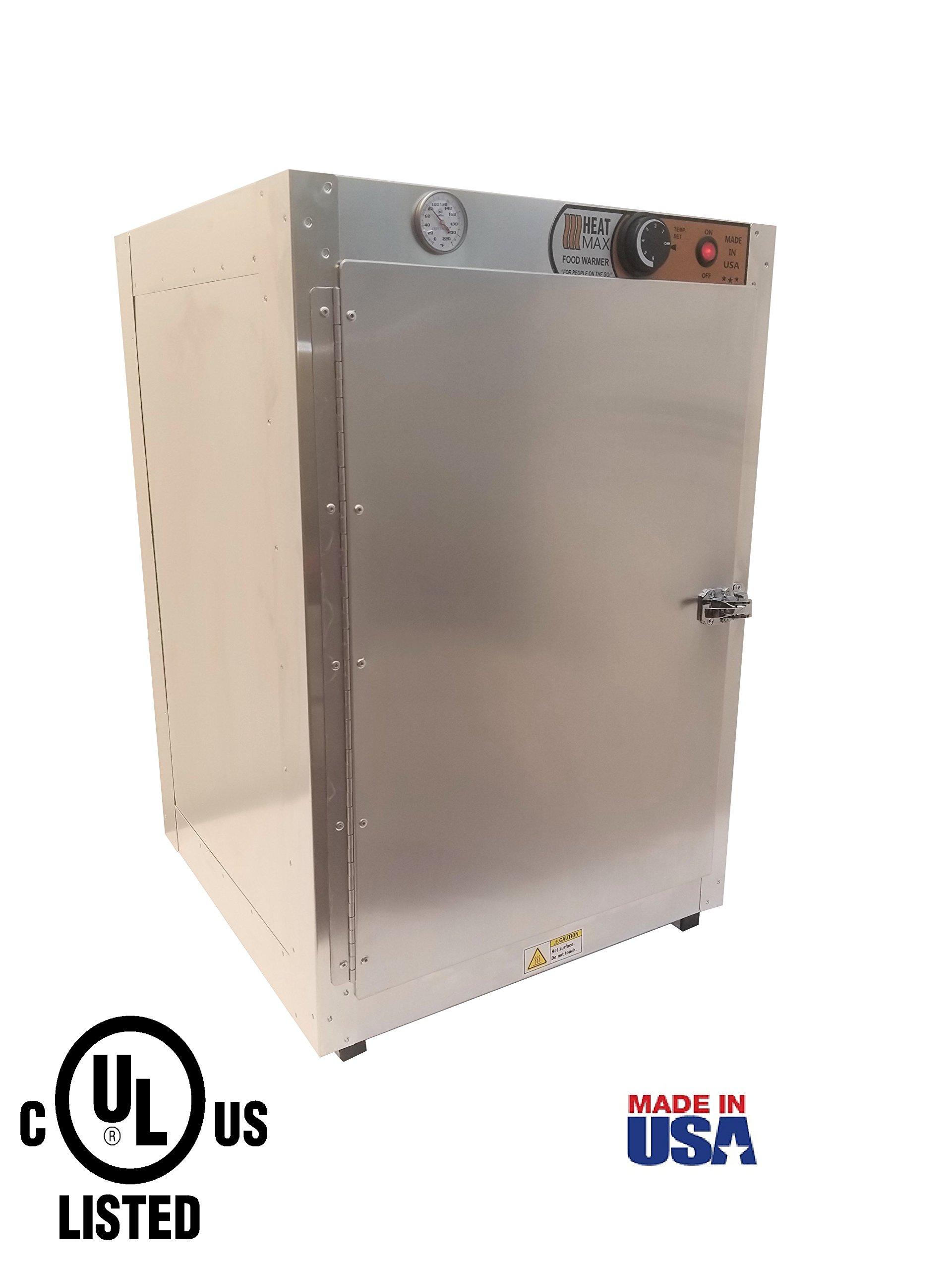 HeatMax Commercial 19x19x29 Hot Box Food Warmer, Pizza Warmer, Catering Hot Food Warmer, PIzza, Pastry, Patty Warmer by HeatMax