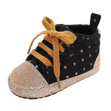 1ebd11472671 LNGRY Shoes,Toddler Kids Baby Girls Boys Trendy Star Bling Soft Sole  Prewalker Crib Sneakers