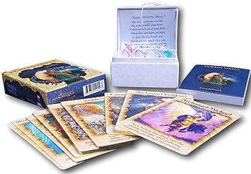 Angel terapia oráculo Tarjeta con tres cristal preocupación ángeles: Amazon.es: Juguetes y juegos