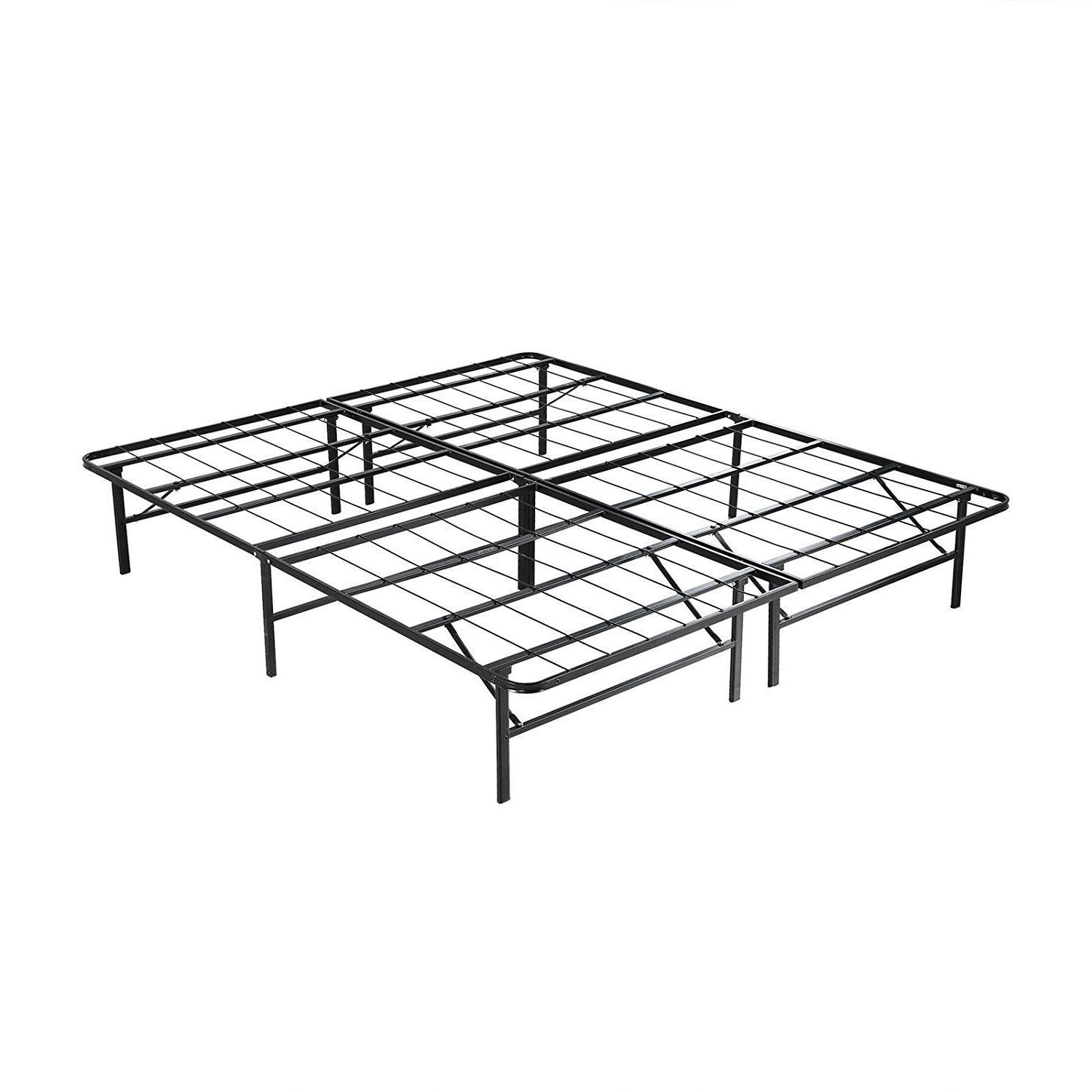 Mecor 14 Inch Foldable Metal Bed Frames Deluxe/Platform Bed/Mattress Foundation,Sturdy,Quiet Noise-Free, Full Size