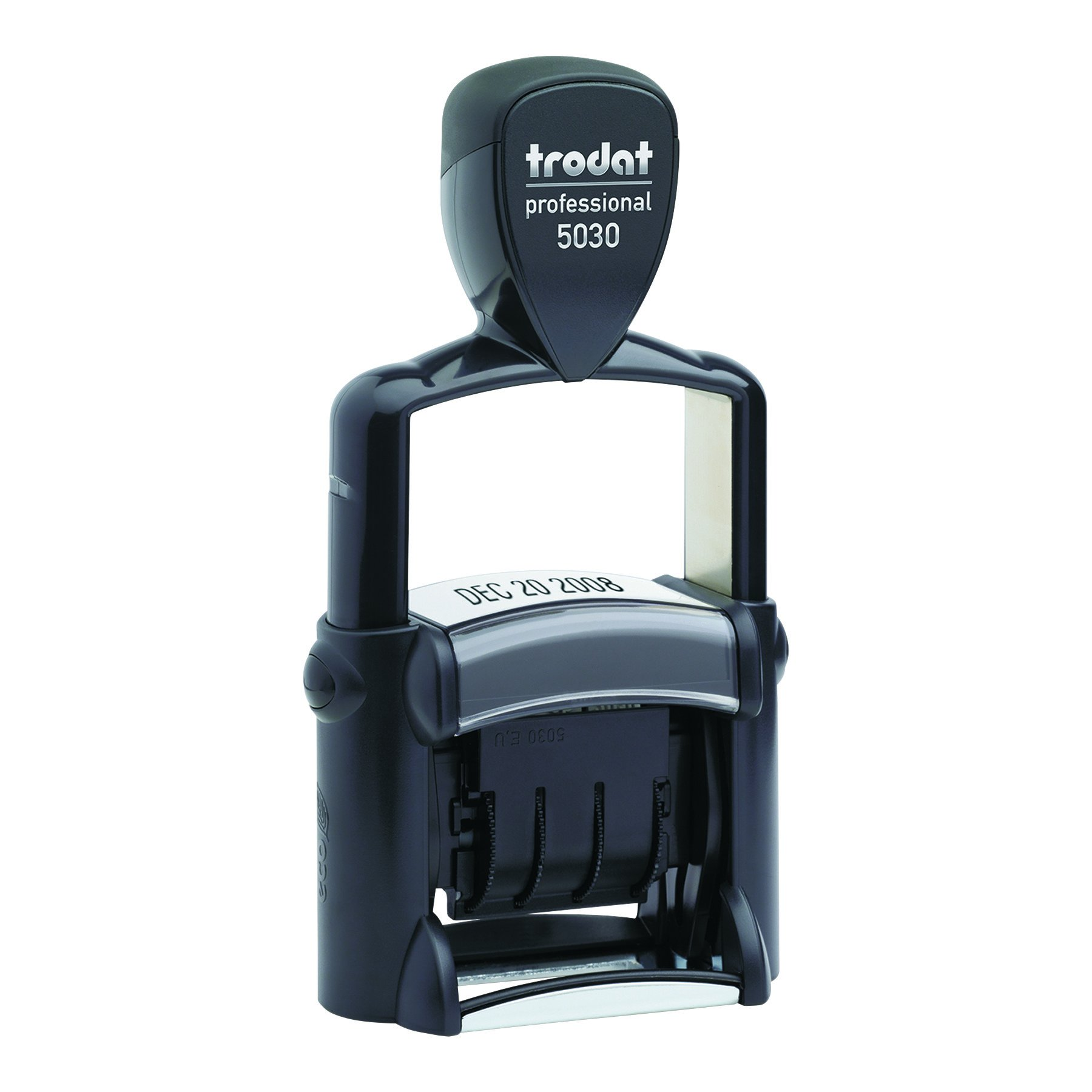 Trodat Professional Stamp, Dater, Self-Inking, Impression Size: 1 5/8 x 3/8 Inches, Black (T5030)