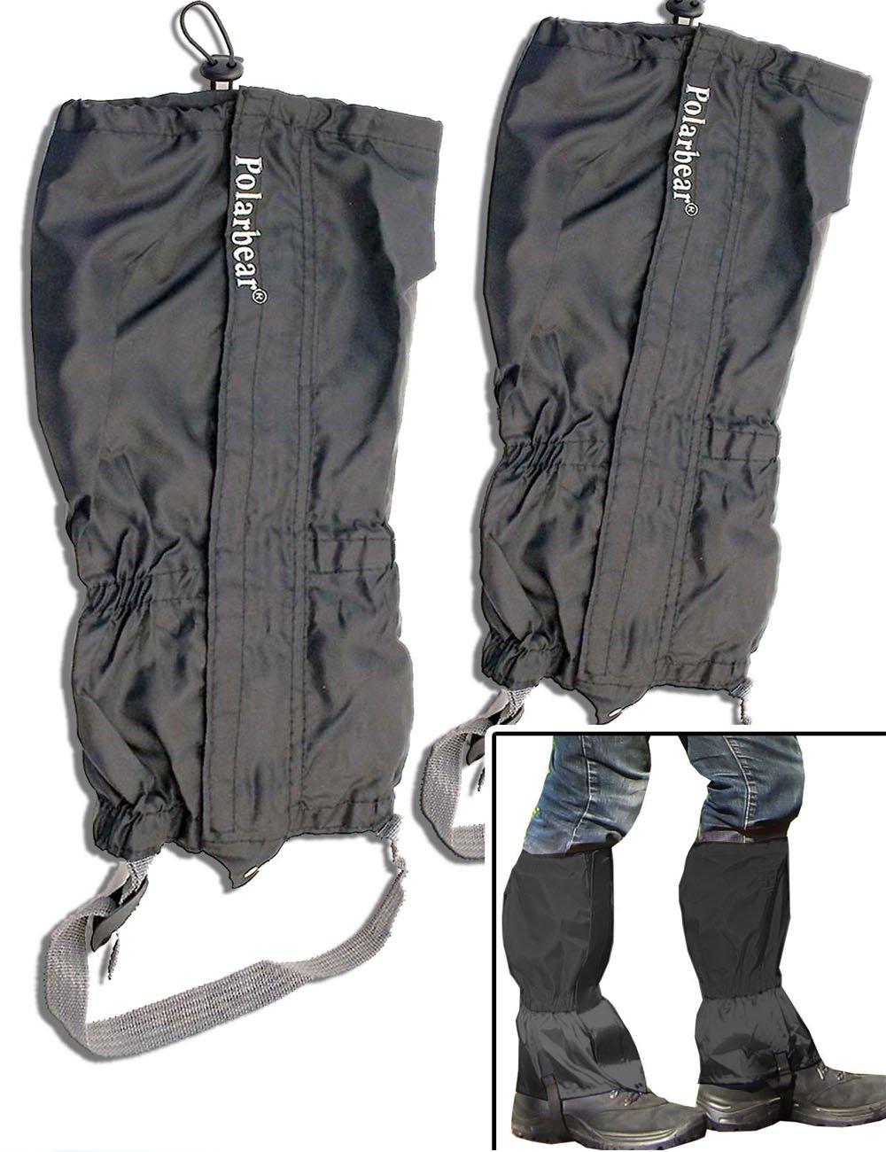 Outdoor Saxx® - Paar Gamaschen | Unigröße wasserdicht strapazierfähig | für Wandern, Ski Fahren, Gestrüpp Stiefel-Schutz wasserabweisend | 2er Set
