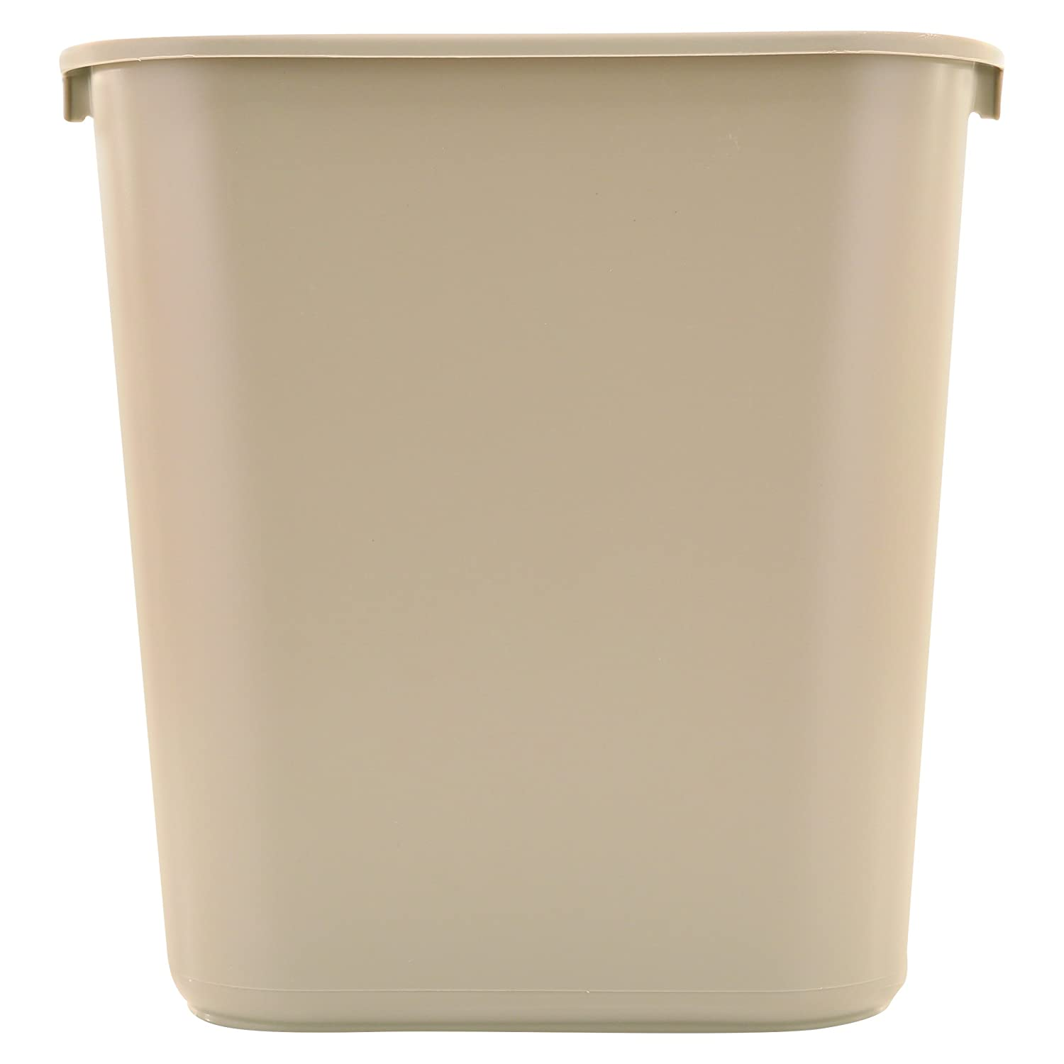 Rubbermaid Commercial Deskside Wastebasket, 3.5-gallon, Small, Black (FG295500BLA) (Pack of 12)