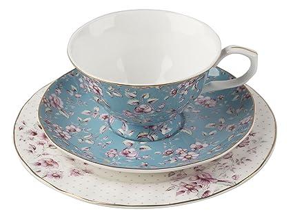 Katie Alice Ditsy Floral azul juego de té de la tarde  Amazon.es  Hogar 46c0a48f08d