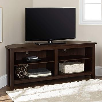 We Furniture Console D Angle Moderne En Bois Espresso Pour Tv A Ecran Plat Jusqu A 65 Cm Amazon Ca Maison Et Cuisine