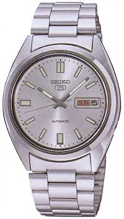 Seiko Men S Snxs73 Seiko 5 Automatic White Dial Stainless Steel Bracelet Watch