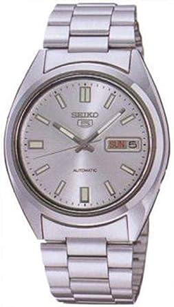 Seiko Men S Snxs73 Seiko 5 Automatic White Dial Stainless Steel Bracelet Watch