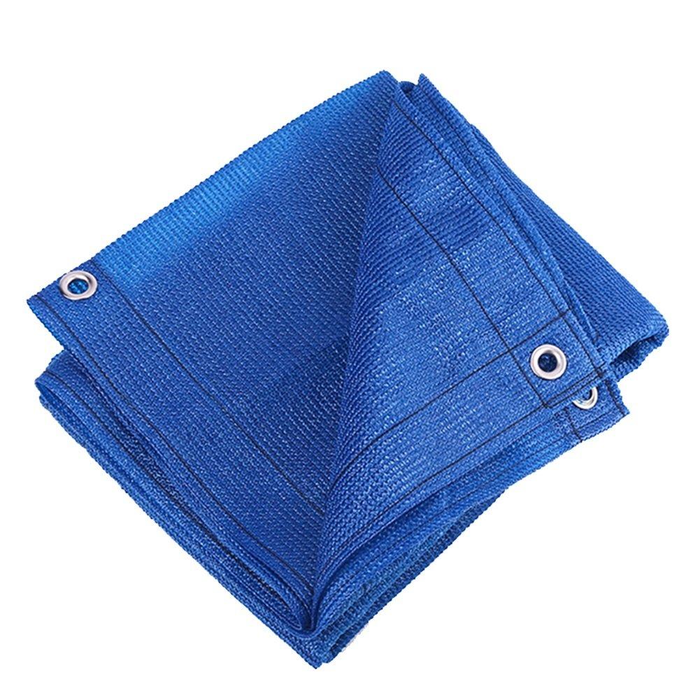 LIANGLIANG Rete Parasole Serre Antivento Tendalino Protettivo Anti-UV Pieghevole Anti-UV con Foro Metallico in Polietilene, 2 Colorei 11 Misure (colore   Blu, Dimensioni   2x4m)