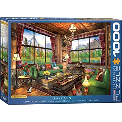 "EuroGraphics 6000-5377 (EURHR) Cozy Cabin by Dominic Davison 1000Piece Puzzle 1000Piece Jigsaw Puzzle, 19.25"" x 26.5"": Toys & Games"