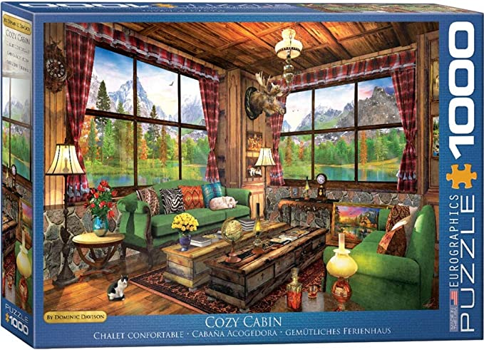 Terry Doughty Hobby Hobbies Cabin Days 25pc Jigsaw Puzzle DIY Sunsout